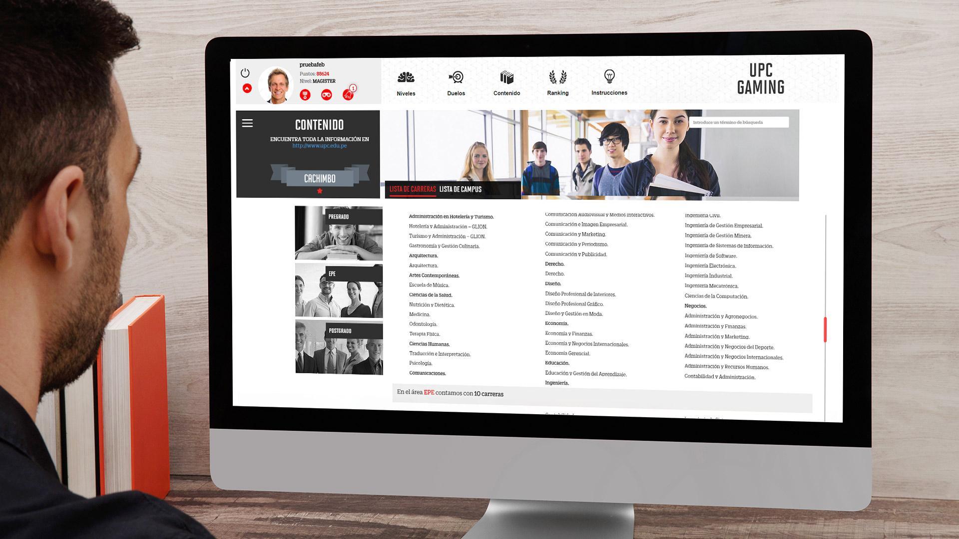 ferramenta de comunicação interna digital desenvolvida pela GESTIONET para UPC.