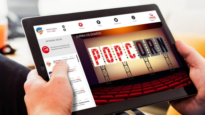 Popcorn Learning es uno de los últimos desarrollos de Gestionet, lanzado para Yelmo Cines.