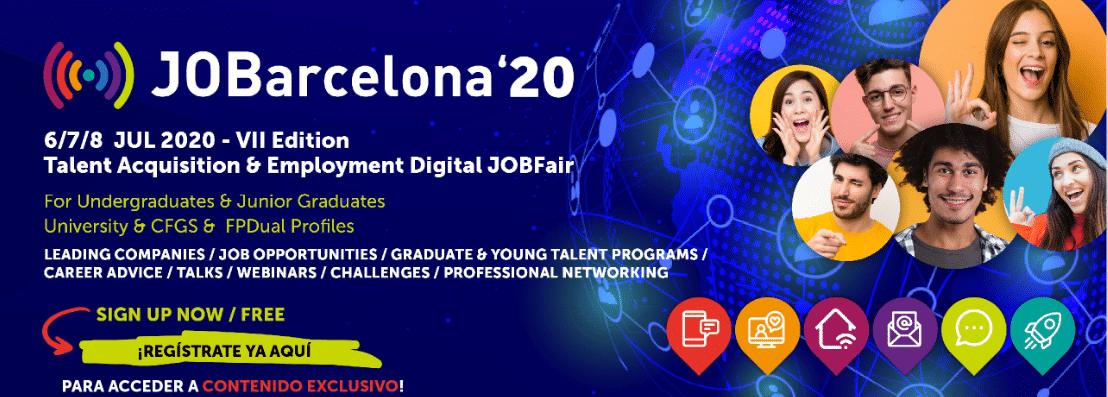 Gestionet presenta sus soluciones digitales para la captación de talento en el JOBarcelona20
